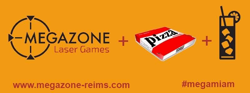 offre pizza venez la d couvrir megazone laser games. Black Bedroom Furniture Sets. Home Design Ideas