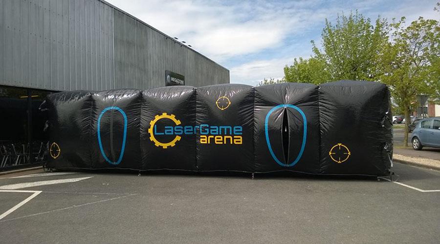 Structure gonflable Megazone laser games de 100 m²