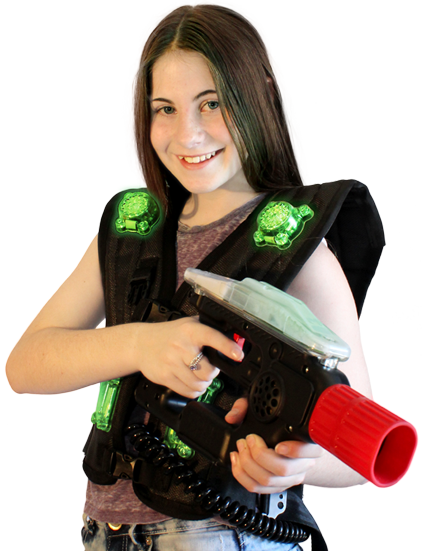 joueuse Megazone Laser Games